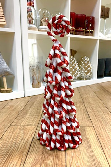 Gisela Graham Candy Cane Christmas Tree 36cm