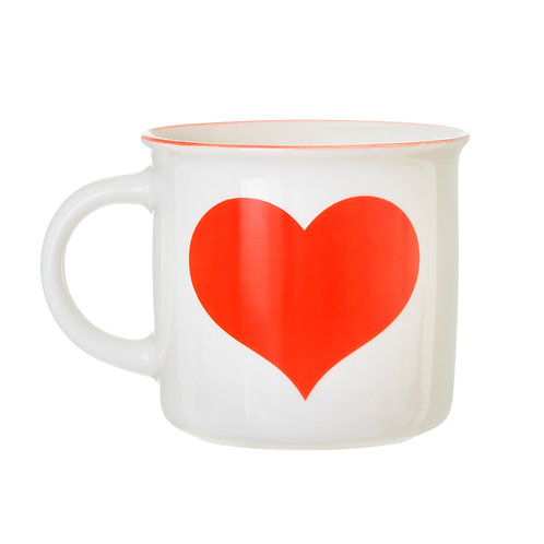 Sass and Belle Red Love Heart Mug