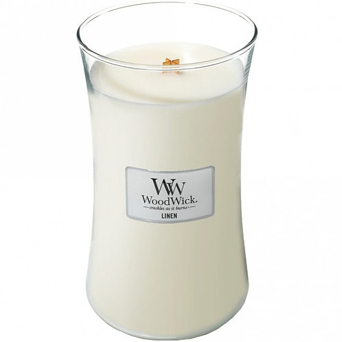 Linen - Large Hour Glass Candle