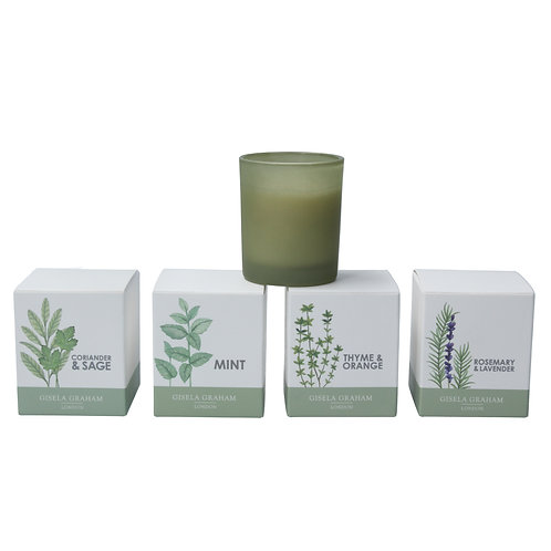 Gisela Graham Set of Four Mini Herb Scented Candles in a Pot