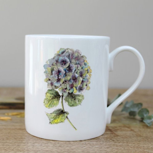 Toasted Crumpet Hydrangea Mug