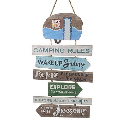 Heaven Sends Fun Retro Caravan Camping Wooden Sign