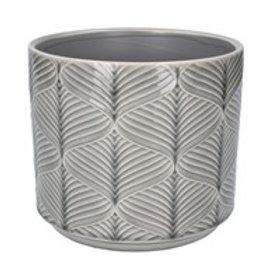 Gisela Graham Grey Wavy Ceramic Planter