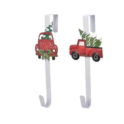 Metal Wreath Holder - Red Truck