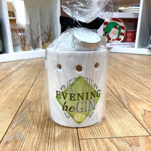 "SiL Interiors ""Let the Evening beGIN"" Melts and Burner Gift Set"