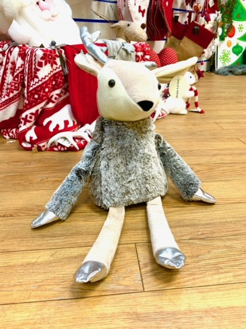 Large Heavy Cuddly Reindeer with Silver