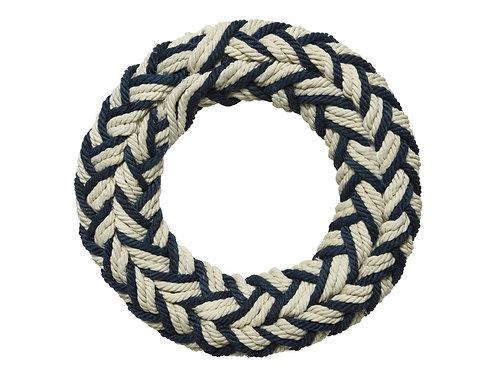 Nautical Navy/White Cotton Wreath