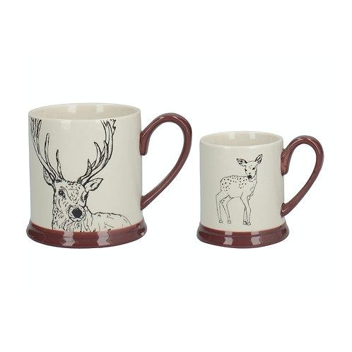 Little Explorer Deer Set of 2 Mugs