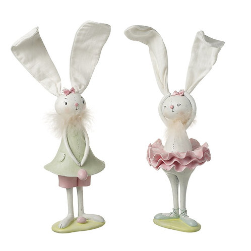 Heaven Sends Large Freestanding Resin Easter Bunny in Pink TuTu 39cm