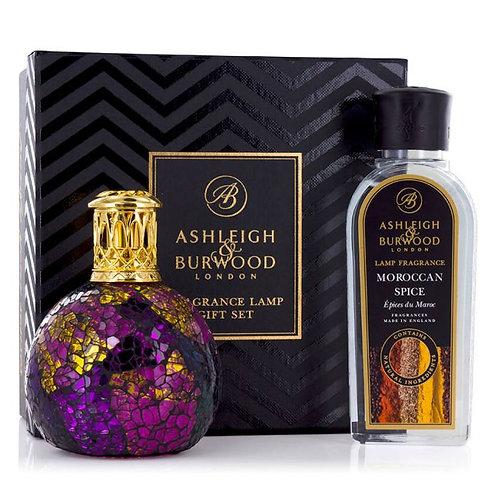 ASHLEIGH & BURWOOD: FRAGRANCE LAMP GIFT SET - MAGENTA CRUSH & MOROCCAN SPICE
