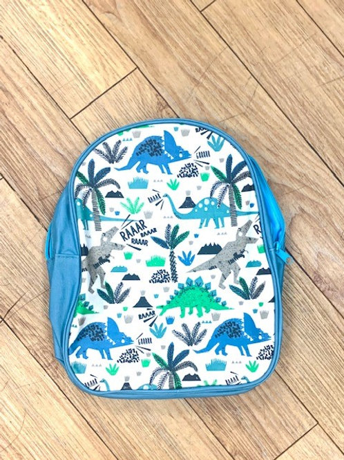 Gisela Graham Dinosaur Back Pack - Blue