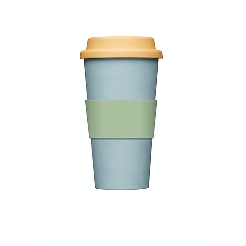 KitchenCraft Natural Elements Eco-Friendly Bamboo Travel Mug - Blue
