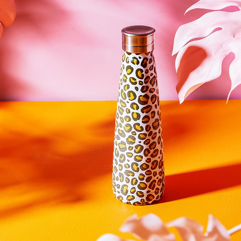 Sass and Belle Leopard Love Stainless Steel Water Bottle