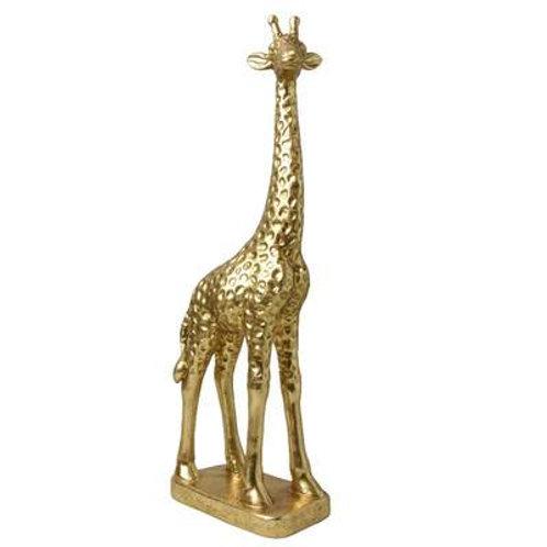 Candlelight Gold Resin Giraffe Ornament 52cm