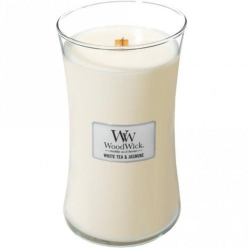 White Tea and Jasmine - Large Hour Glass Candle