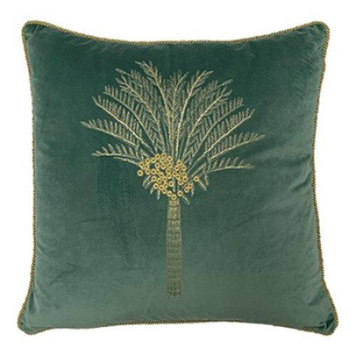 Desert Palm 50x50cm Plush Cushion Mineral Green