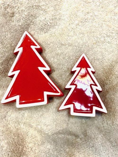Red Ceramic Nordic Christmas Tree - Large
