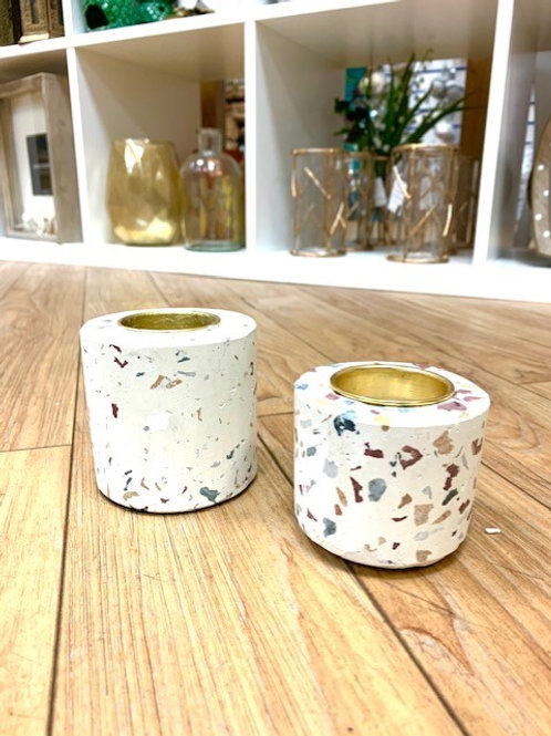 Bahne Concrete Fleck Small Tealight Holder 6cm