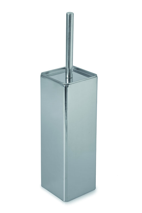 Toilet Brush and Holder - Square - Stainless Steel