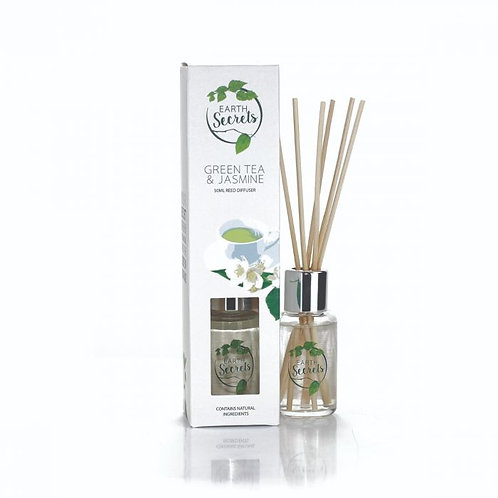 Earth Secrets: Reed Diffuser - Green Tea & Jasmine 50ml