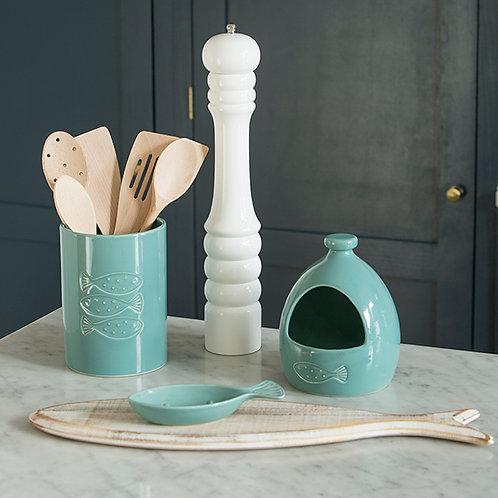 T & G Ocean Ceramic Utensil Pot