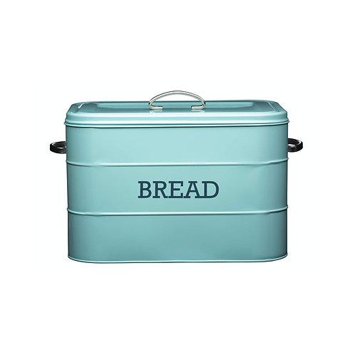 Living Nostalgia Large Metal Bread Bin - Antique Blue