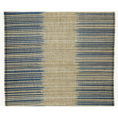 Bamboo Navy Blue and Natural Table Runner