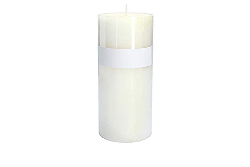 Gisela Graham White Vanilla 15cm Pillar Church Candle