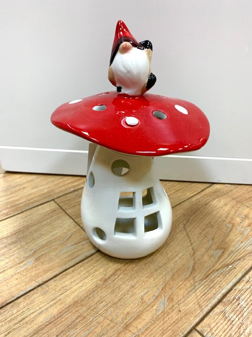 Ceramic Gonk on a Toadstool Tealight Holder