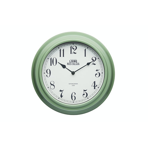 Living Nostalgia Analogue Wall clock - English Sage Green