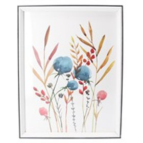 Gisela Graham Wild Meadow Acrylic Framed Watercolour Print