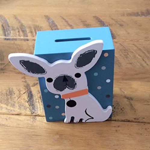 Gisela Graham Cute Dog Moneybox