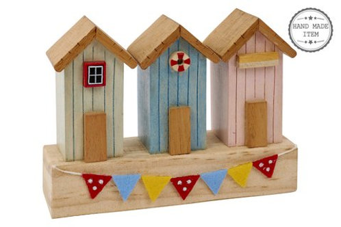3 Beach Hut Ornament