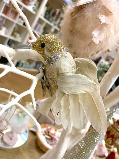 Gold Glitter Hummingbird