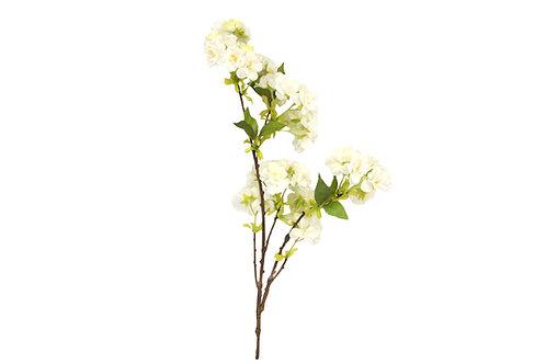 Gisela Graham Faux White Cherry Blossom Spray 81cm