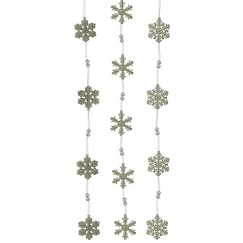 Acrylic Snowflake Garland - Number Three