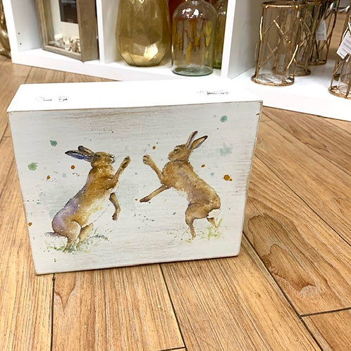 Langs Mad March Hare Wooden Storage Box