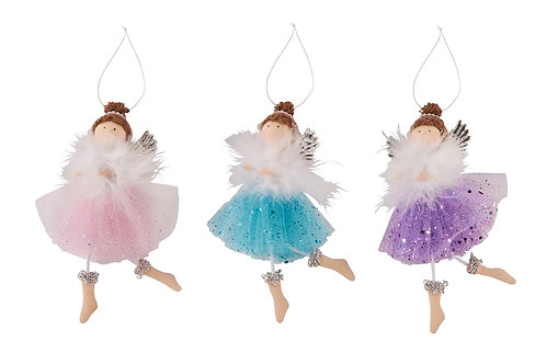 Cute Christmas Fairy Hanger - Blue Tutu