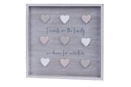 "3D Heart Plaque ""Friends are the Family We Choose For Ourselves"""
