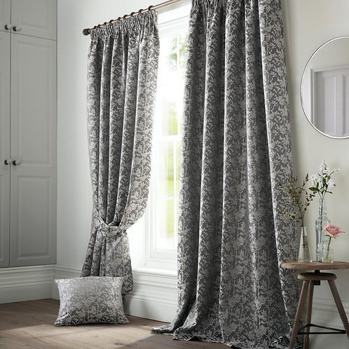 "Ashleigh Wilde Luxury Ready Made Curtains - Bayford - Grey 90""x54"""