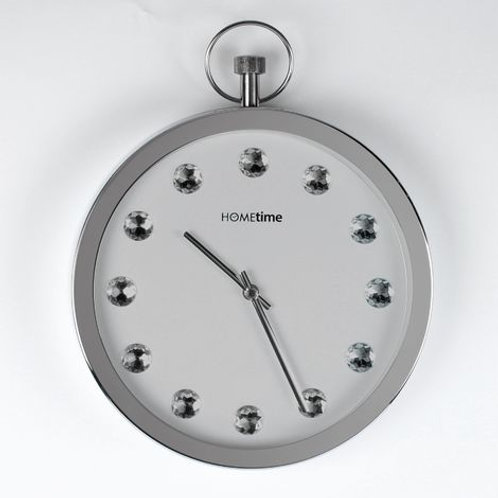 Hometime Metal Wall Clock with Swarovski Crystals