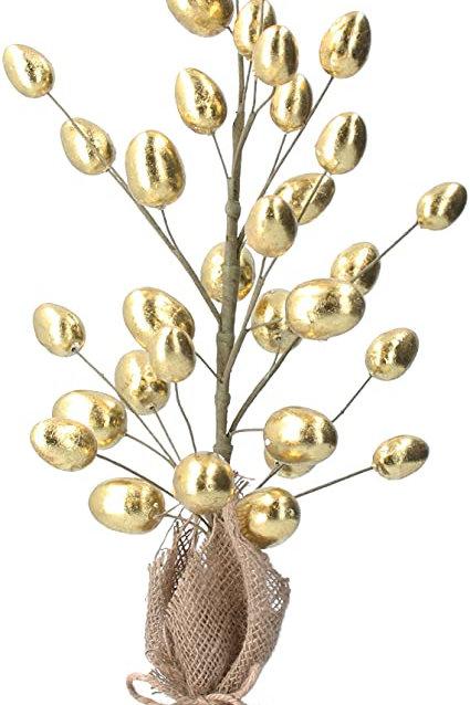 Gisela Graham Gold Egg Twig Tree