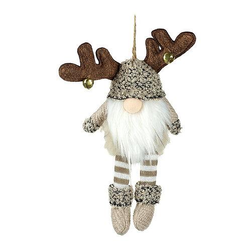 Hanging Reindeer Gonk with Bell Antlers
