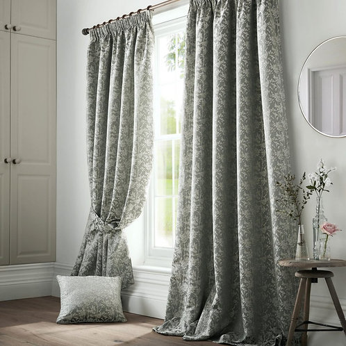 "Ashleigh Wilde Luxury Ready Made Curtains - Bayford - Seafoam 46""x54"""