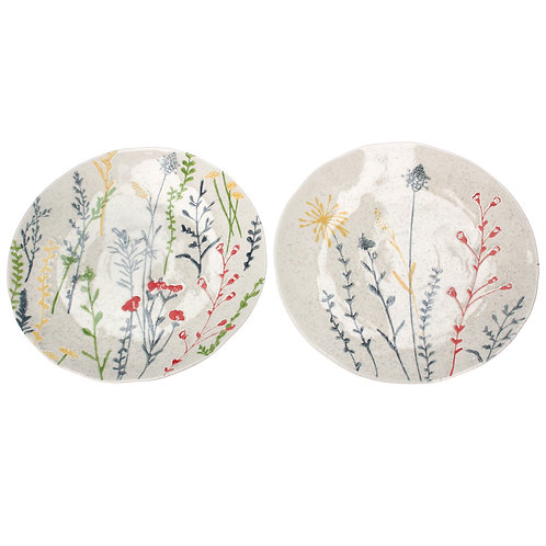 Gisela Graham Ceramic Artisan Plate - Meadow Flowers