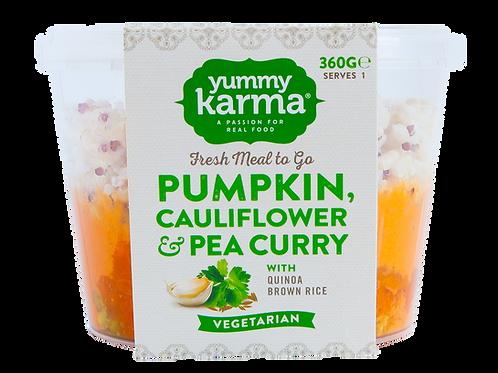 Pumpkin, Cauliflower & Pea Curry with Brown Rice Quinoa 360g