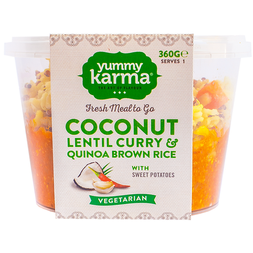 Coconut Lentil Curry with Brown Rice Quinoa 360g
