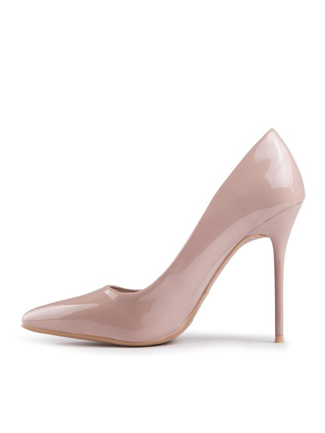 Asymmetrical cut pink pumps