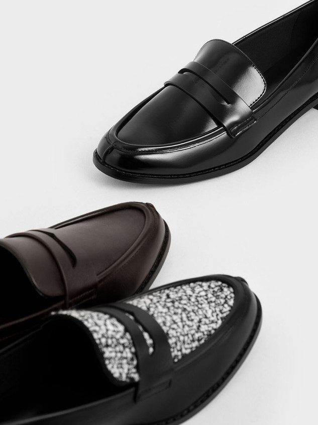 Charles & Keith black loafers