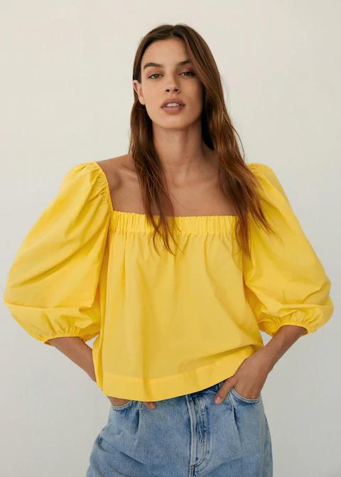Mango puff sleeve shirt